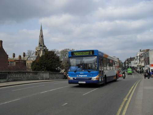 Stagecoach Bedford Bus on Bedford Bridge